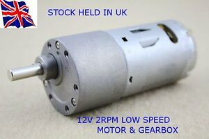 12V-DC-HIGH-TORQUE-High-power-Reversable-Electric-Motor-2-RPM-amp-Gear-Box