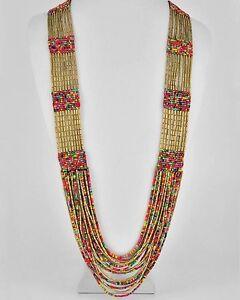 Indian-Cobra-Beaded-Necklace-Gold-Red-Black-Pink-Multicolor-Oversize-Huge-Big