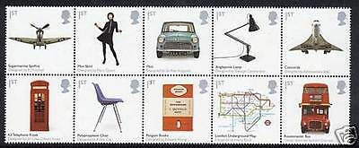 2010 British Classic Designs set x 10. Superb unmounted mint.