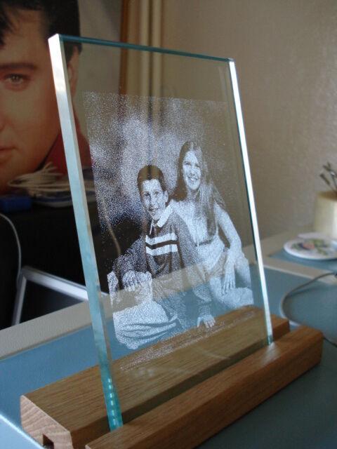 CHRISTMAS LASER PHOTO GLASS PLATE 6x4 GIFT FAMILY KIDS PETS WEDDING BIRTHDAY 31
