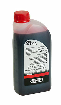 Oregon 1 Litre Two 2 Stroke Oil - for Chainsaw, Strimmer, Hedgecutter etc.