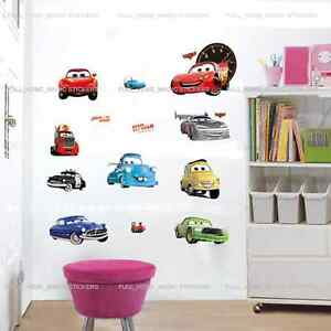 Disney-CARS-Wall-Stickers-Boys-Bedroom-Baby-Nursery-Decal-Self-Adhesive-Decor