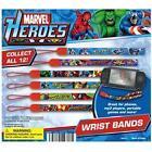 Marvel Entertainment Marvel Super Heroes Wristband Wrist Straps Set Of 12