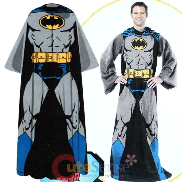 DC Comic Batman Throw Blanket with Sleeves Costume Blanket -Adult  Size 48x71