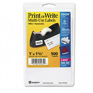 Avery Dennison Ave-05434 Handwritten Removable Id Label - Removable/ Pack
