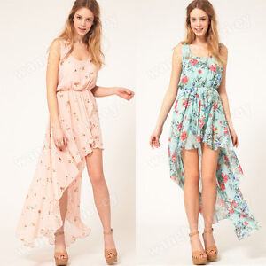 New-Floral-Chiffon-Vest-Dress-With-Asymmetric-Hem