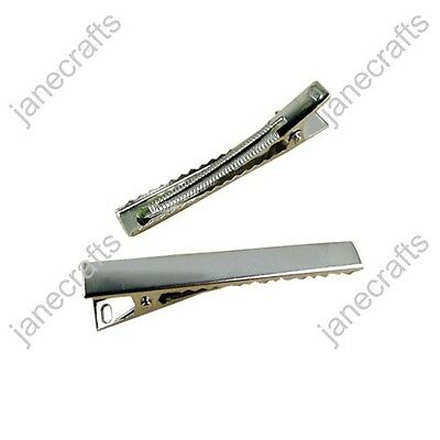 """2.5"""" 66mm Rectangular Alligator Clips with Teeth-100PCS wholesale for hair bow"""