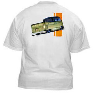 Kurbside-Kustoms-VeeDub-Transporter-Pickup-Truck-Hot-Rod-T-Shirt-SS-366