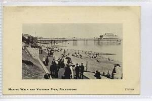 al25-Marine-Walk-Victoria-Pier-FOLKESTONE-c1910-Unused-VG