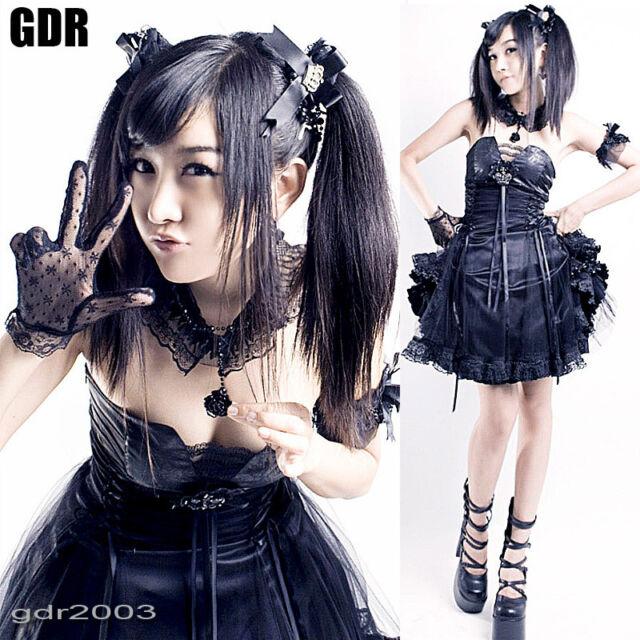Gothic LOLITA CORSET Cosplay Q120 B Dress +NECKBAND M-L