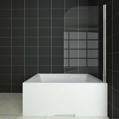 800x1400mm 180° Pivot Bath Shower Screen Over 6mm Glass Door Panel&Seal BBG