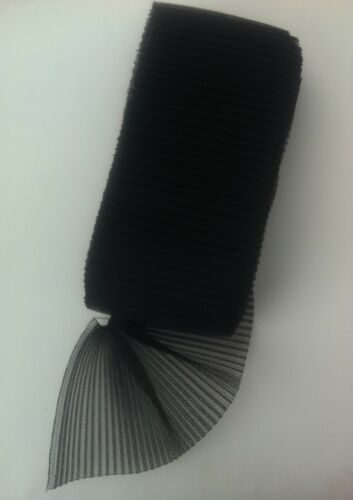 """6/"""" W x 1 Mtr Pleated Crinoline fabric Hat Making Fascinators Dressmaking Sewing"""