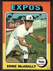 1975 Topps Ernie McAnally Montreal Expos #318 Baseball Card