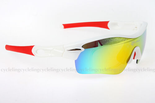 RockBros Polarized Cycling Glasses Sports Glasses Sunglasses Goggles White