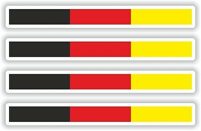 Deutschland Deutsch Flagge Streifen Aufkleber Auto Motorrad Boot LKW