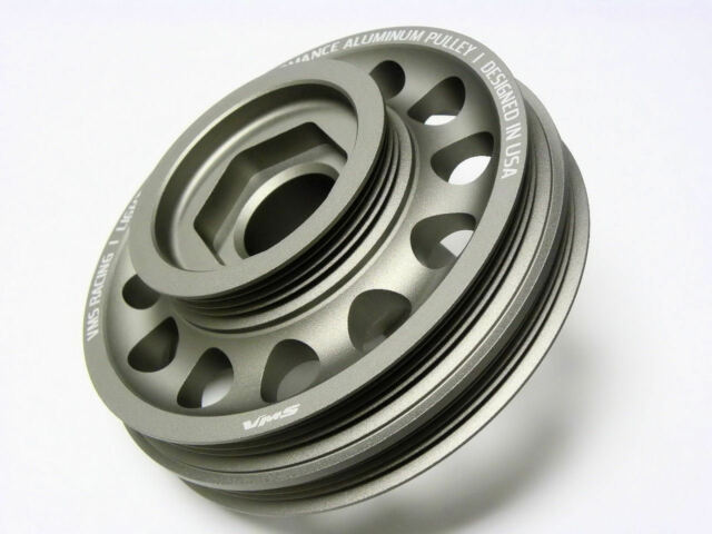 VMS Racing Light Weight Aluminum Crankshaft Pulley OEM Size 96-00 Civic SOHC D16