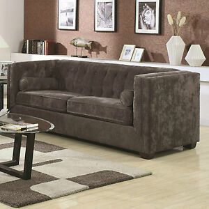 about sleek charcoal gray micro velvet sofa living room furniture