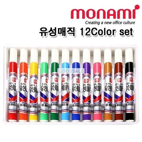 MONAMI Oil-Based Permanent Markers  12 Color Set
