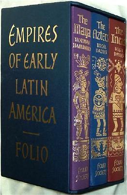 EMPIRES OF EARLY LATIN AMERICA ~ AZTEC INCA MAYA ~ FOLIO SOCIETY ~ BOXED NEW!!