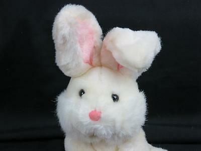 RUSS BUMPER THE RABBIT WHITE PINK EASTER BUNNY PLUSH STUFFED ANIMAL TOY