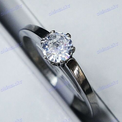 10pcs 100% Pure Zircon Top Stainless Steel Upscale Rings Wholesale Jewelry Lots