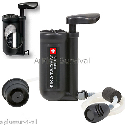 Katadyn Micro Filter Hiker Pro Survival Backpacking Water Filtration System