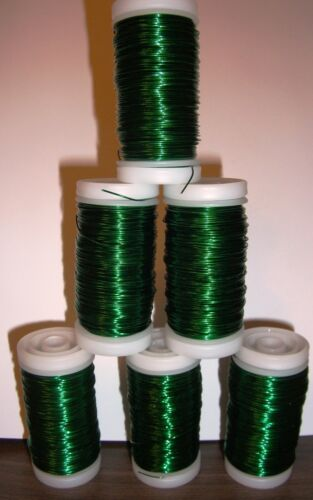Black Red Gold Green Pink Silver  Metallic Florist/Craft Wire. 1 Reel of 100g