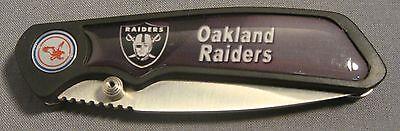 OAKLAND RAIDERS ABSTRACT LOGO DARK GREY FOLDING POCKET KNIFE