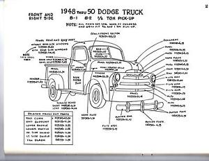 1951    1952 1953 DODGE TRUCK 12 34 1 TON EXTERIOR BODY