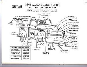 Tremendous 1951 1952 1953 Dodge Truck 1 2 3 4 1 Ton Exterior Body Parts Diagram Wiring Digital Resources Xeirawoestevosnl