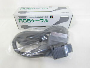 Nintendo-Super-Famicom-RGB-SCART-Cable-Boxed-Brand-new-Import-JAPAN-Video-Game