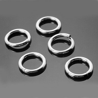 25 X Strong Solid Sterling 925 Silver 4mm Jump Rings High Quality 0.7mm Wire