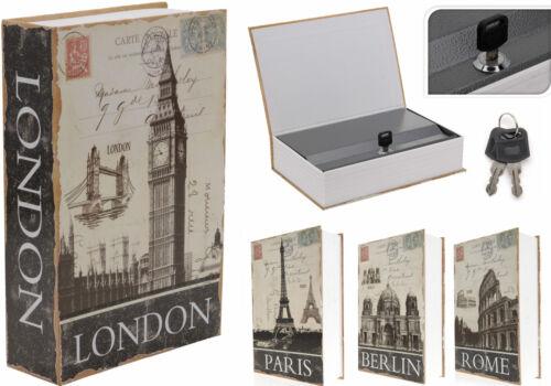 Buchsafe getarnte Geldkassette Buchkassette,Safe,Tresor,Buch,Gold,Euro,Silber