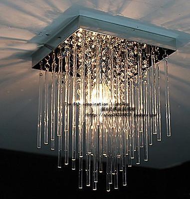 New 20cm Led Crystal Ceiling 1 Light Fixture Pin Lamp Lighting Prizm Chandelier