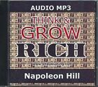 Think and Grow Rich : Original Version [MP3 AUDIO] [UNABRIDGED] (MP3 CD): by Napoleon Hill (2005, Spiral)