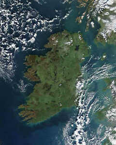 IRELAND PHOTOGRAPHED FROM SPACE 8x10 PHOTO NASA