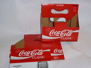 5-VINTAGE-1986-UNUSED-COCA-COLA-CLASSIC-CARRIERS-COKE-CLASSIC-CARDBOARD-NEW