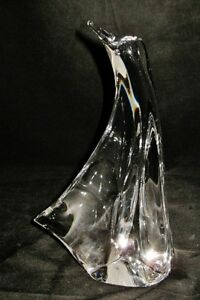 Large-Daum-Crystal-PENGUIN-Figurine-Clear-France-8-1-2-034-Tall-2-lbs-11-oz