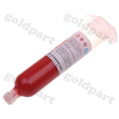 1pc SMD PCB BGA IC Stencil Paste Dispenser Red Glue 40g