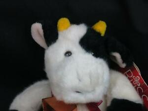 """WE NEED MORE COWBELL RUSS JANGLES PLUSH STUFFED ANIMAL BLACK WHITE NEW TOY 8"""""""
