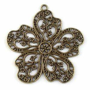 5x-142717-New-Hollow-Web-Flower-Charms-Antique-Bronze-Alloy-Pendants-Finding