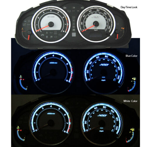 ADD W1 Gauge Overlay for Mazda 6 2006 2007 06 07  Cluster White Blue