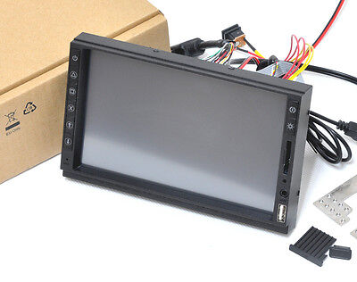 "2DIN IN DASH 7"" Samsung VGA Touch Screen Monitor KIT USB SD Raspberry Pi"