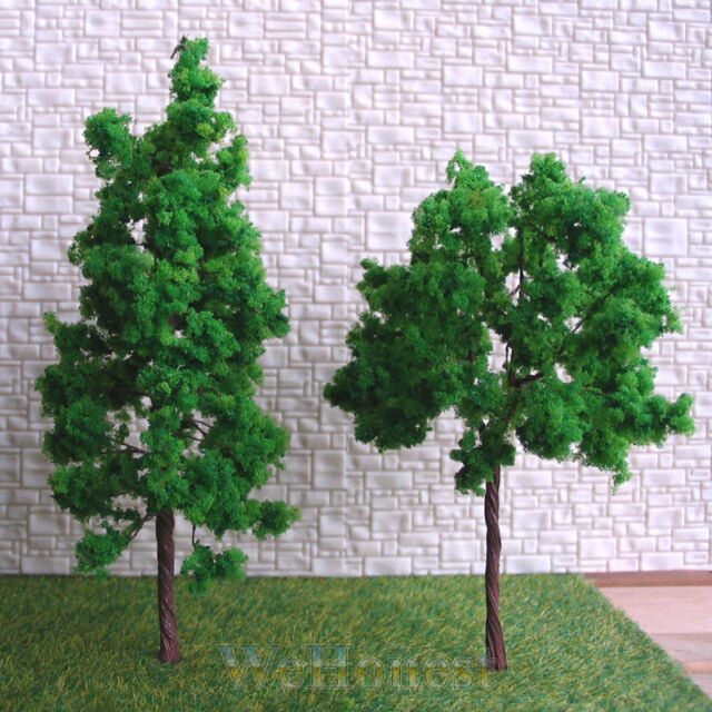60 x HO OO scale assorted Green Model Trees #11040-9048