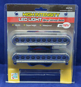 2x-WLP10L-CLEAR-LOW-PROFILE-SLIM-DRL-LED-WATERPROOF-WORK-LIGHTS-12VDC-IP66-AREA