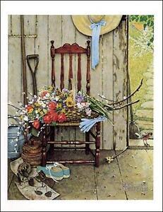 Norman-Rockwell-Print-Still-Life-SPRING-FLOWERS