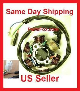 magneto stator 6 coil 5 wire gy6 125cc 150cc atv moped go. Black Bedroom Furniture Sets. Home Design Ideas