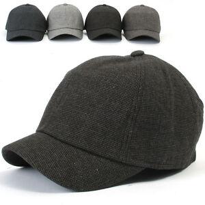 ililily-New-Mens-Cotton-Hat-Short-Bill-Ballcap-Unisex-Riding-Cap-nwt-c561