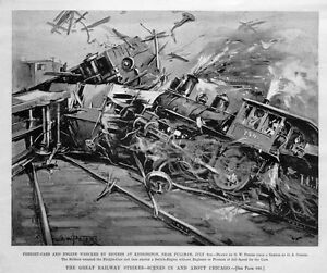 CHICAGO-RAILWAY-STRIKE-FREIGHT-CARS-AND-ENGINE-COLLIDE