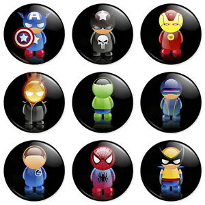 9-Marvel-Avengers-25mm-1-Pin-Button-Badges-Memes-Iron-Man-Hulk-Wolverine-Combo